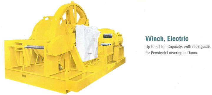 Electric Winch for Dams
