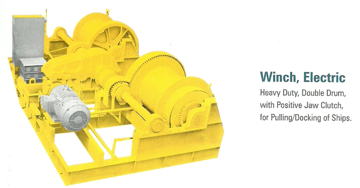 Electric Winch for docking of Ships